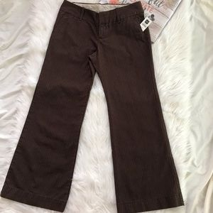 NWT Brown Striped Modern Fit Flare Pants Size 8A